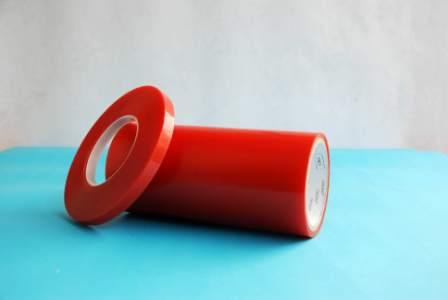 Red PET double sided tape