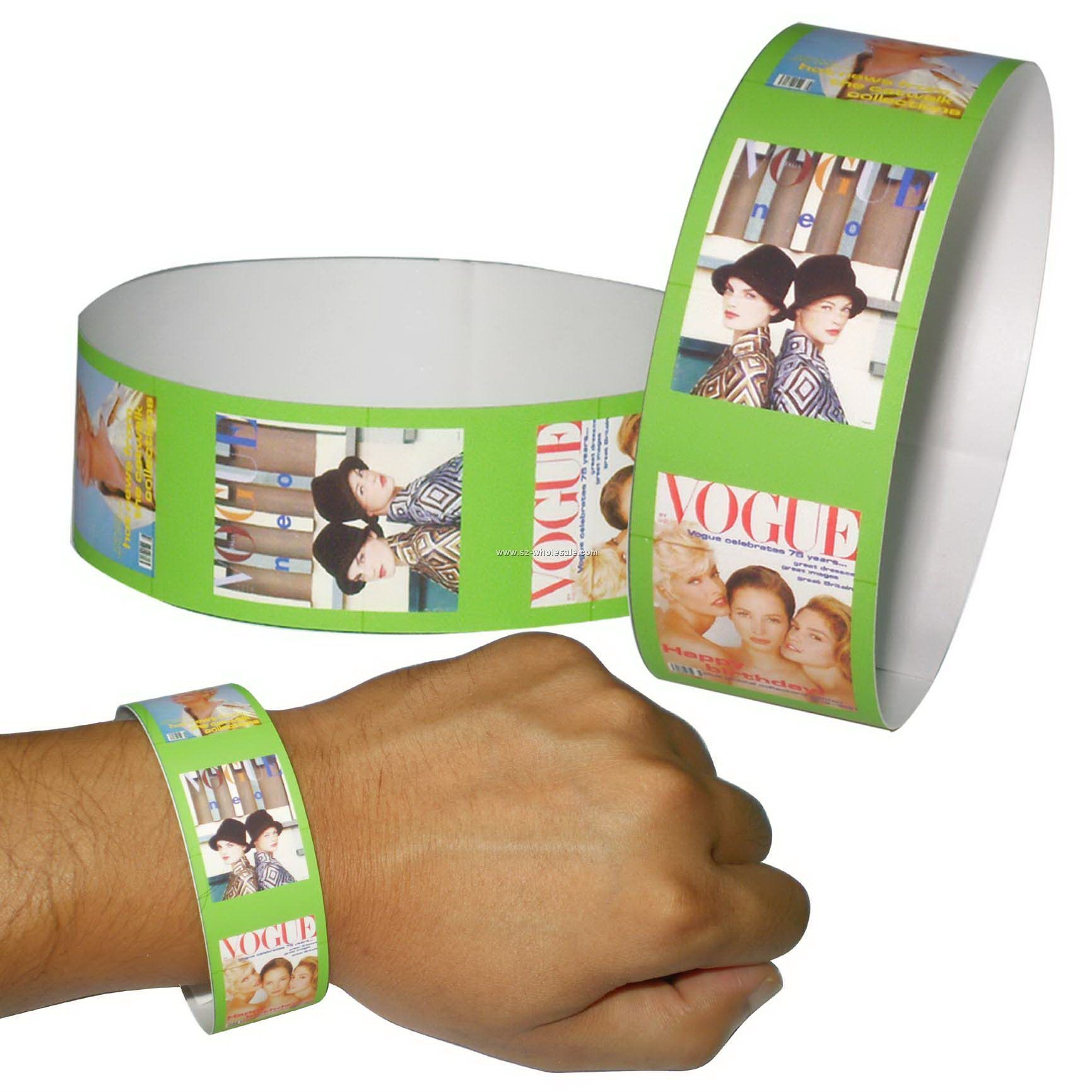 image about Printable Tyvek Wristbands titled TYVEK wristbands-Epoxy stickers,Printing labels,Adhesive